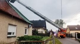 Stare Siołkowice – silny wiatr uszkodził dach!